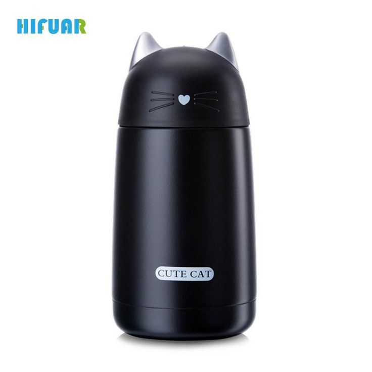 Hifuar Cartoon Cat Mug Thermos Cute Vacuum Flask Cups And Mugs Stainless Steel Thermos Water Bottle Thermal Tumbler Coffee Mugs