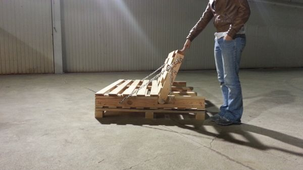 Pallet Furniture Study - 1 : The Industrial Futon by Nicole Schneegas, via Behance