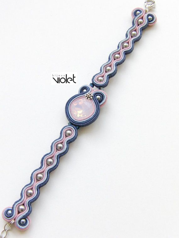Soutache bracelet Envy Jeans edition от Violetbijoux на Etsy