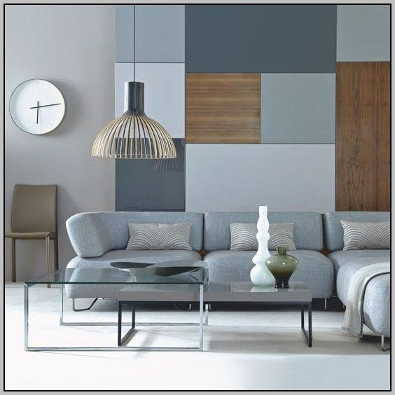 Blue And Grey Color Scheme Room