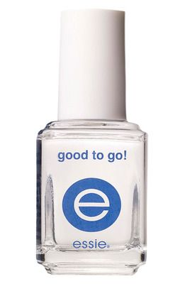 Essie Good To Go! The best top coat I have ever used.  Makes nails look like gel nails.  Dries super quick. LOVE!