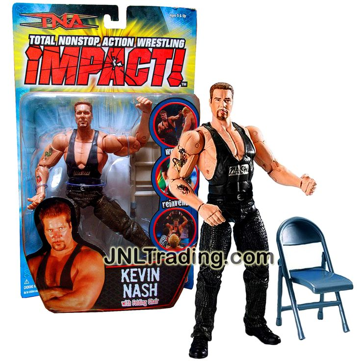 Marvel Toys Year 2006 Total Nonstop Action TNA Wrestling Impact! Series 7 Inch Tall Wrestler Action Figure - KEVIN NASH with Folding Chair