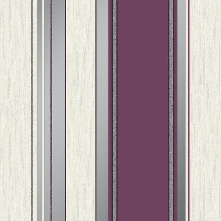 Vymura Synergy Stripe Plum Wallpaper – M0800