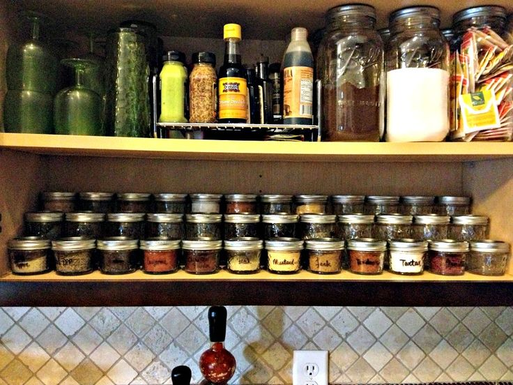 Use Little Quilted Mason Jars For Spice Storage Put 12