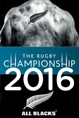 "All Blacks rugby - ""The 2016 Rugby Championship"" poster created by Gordon Tunstall using Adobe Photoshop - 2015"