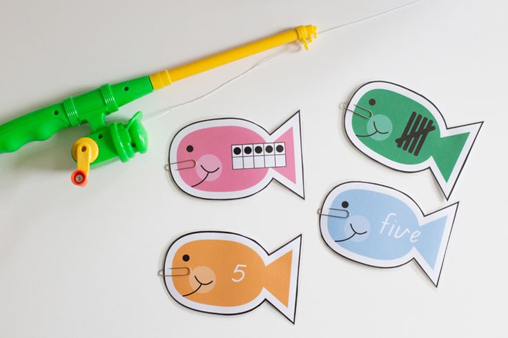 Number Fun Fishing Game - great for small groups and maths rotations. Catch the number and compare, order and match.