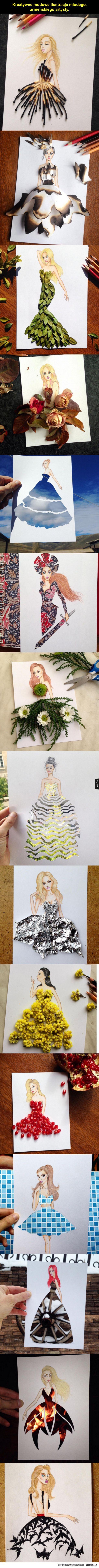 Kreatywne ilustracje modowe