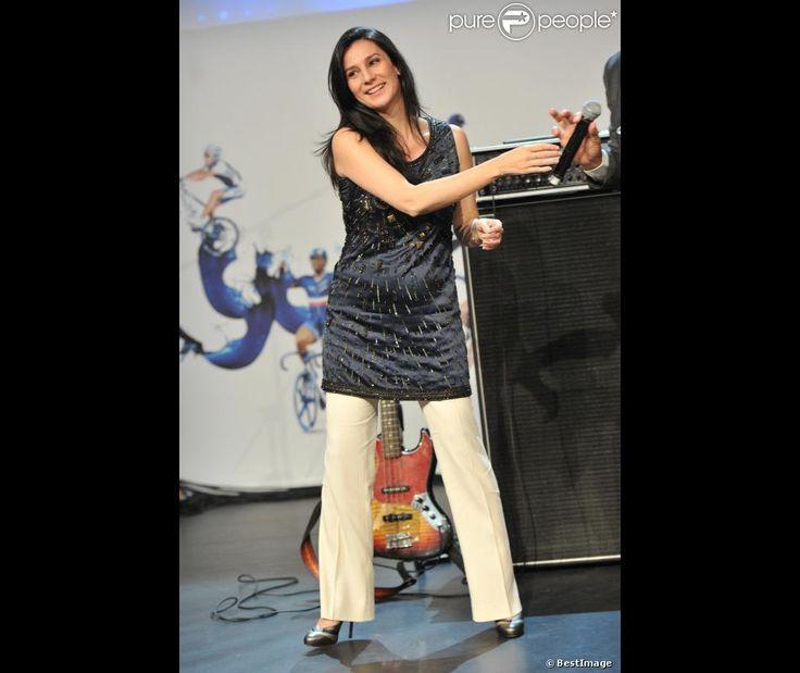 La journaliste Marie Drucker à Londres lors des Jeux Olympiques 2012 le 29 juillet 2012...