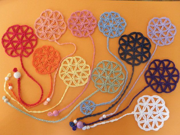 "Crochet Tutorials – Crochet tutorial nice Bookmark ""Flower of Life ..."