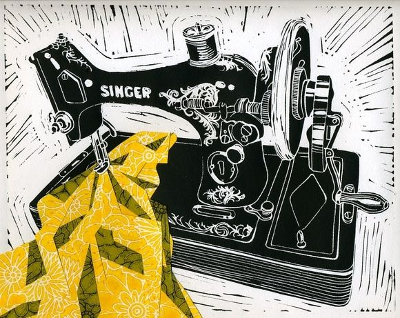 Sing , Lino Prints by Saskia Palmer