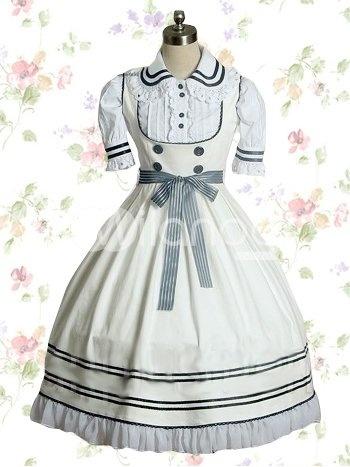 Beige White Cotton Sweet Lolita Dress $72.99     http://www.milanoo.com/Beige-White-Cotton-Sweet-Lolita-Dress-p51326.html