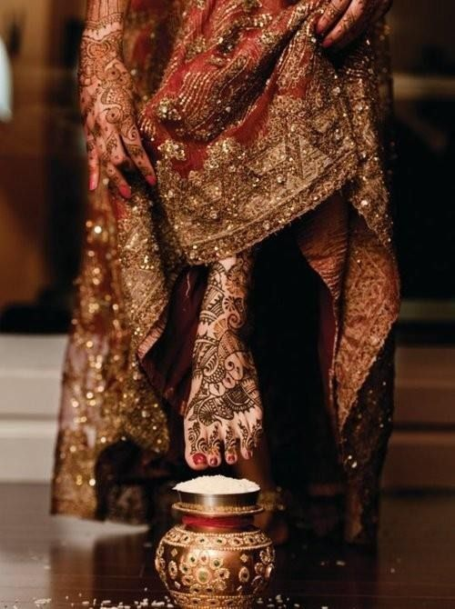 The traditional Indian bride ritual