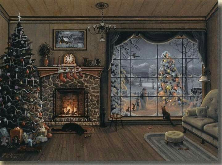 292 best fireplace scene, window scene, cozy house images on ...
