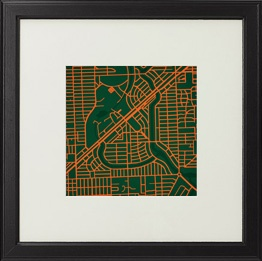 Campus Map Prints - Too Bad UM's is Ugly