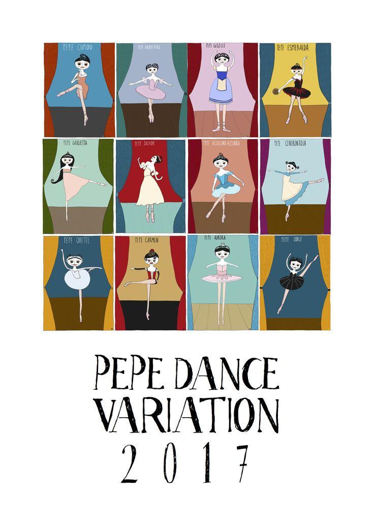 #Calendar2017 of Pepe #dancevariation by Monica Brini