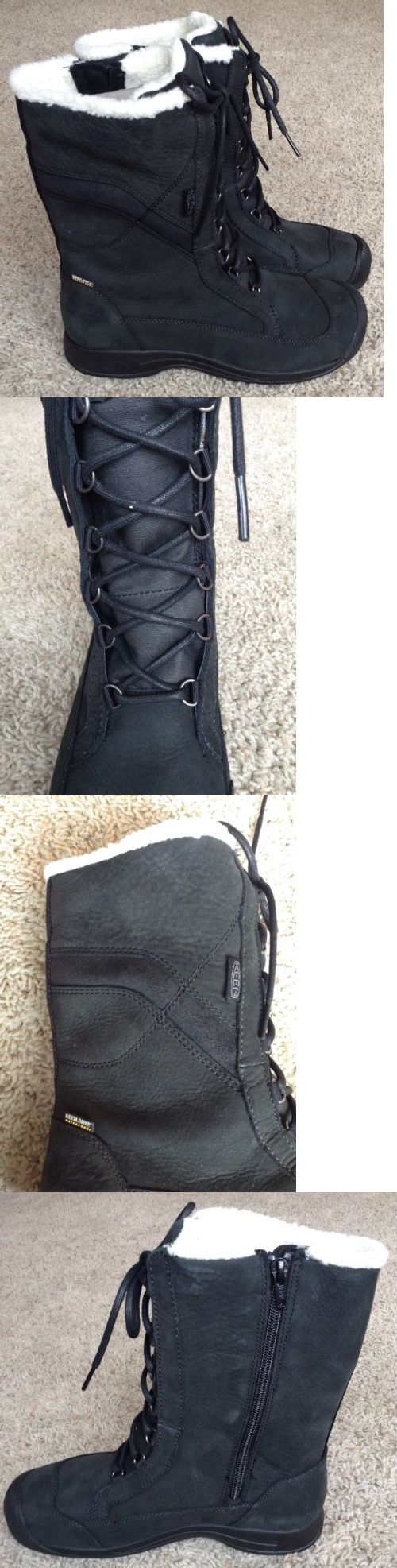 Womens 181393: Keen Reisen Winter Lace Wp Boot - Womens Size 9 - Black - Clearance! BUY IT NOW ONLY: $59.95