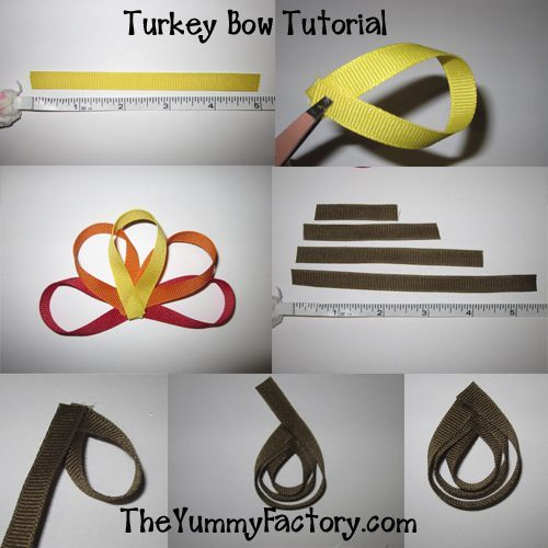 Turkey Ribbon Bow Tutorial & Thanksgiving ideas