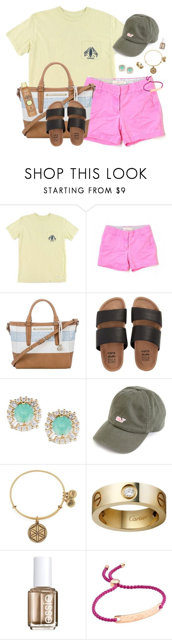 """""""Someone Tell Me What Coachella is!"""" by southernstylish ❤ liked on Polyvore featuring O'Neill, J.Crew, Brahmin, Billabong, Anne Klein, Alex and Ani, Essie, Monica Vinader and Sun Bum"""
