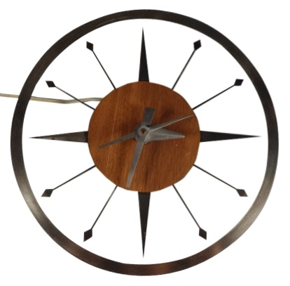 Mid-Century Modern Floating Dial Wall Clock / via VandM: Midcentury Modern, Mid Century Modern, Mod Floating, Modern Floating, Dial Wall, Wall Clocks, Floating Dial, Products, Mid Mod