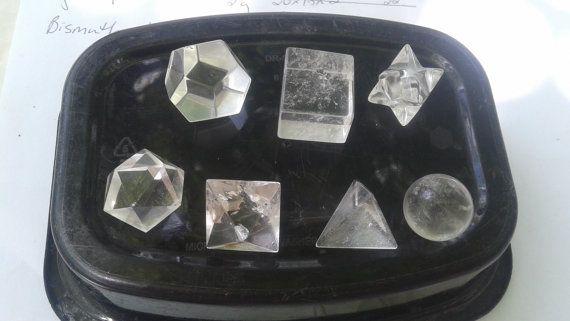 7 Piece Clear Quartz Sacred Geometry Set