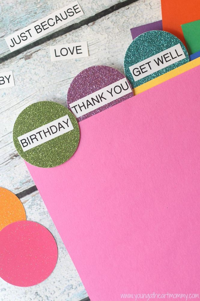 DIY Greeting Card Organizer