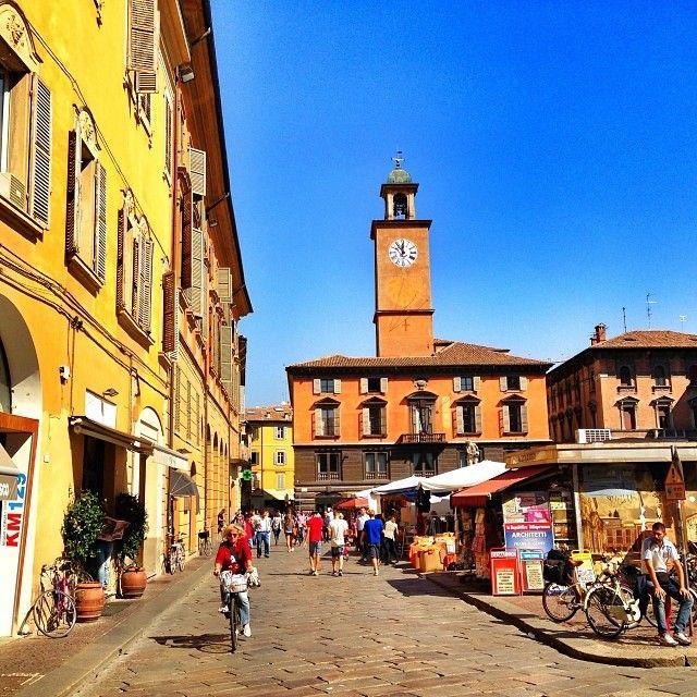 The beautiful old town of Reggio Emilia - Instagram by @DJ Yabis