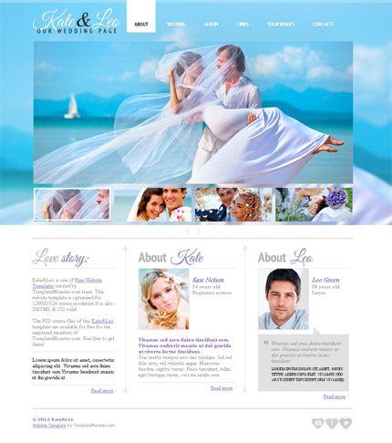 Free Wedding Website Template #HTML http://www.templatemonster.com/free-templates/free-website-template-jquery-slider-wedding-page.php?utm_source=Pinterest&utm_medium=timeline&utm_campaign=frwedth