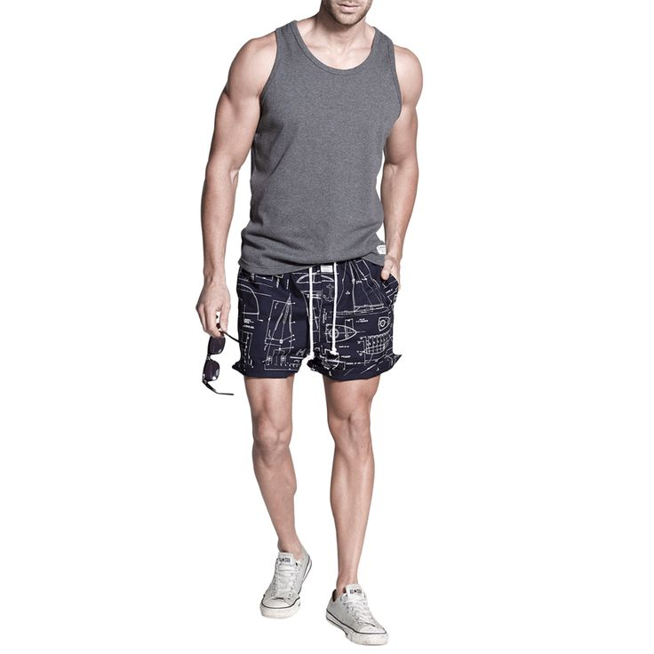 Hardy Rib Tank | Penkivil Shorts Blueprint #campbellandhall #beach #style #outfit #menswear #mensclothing #shorts