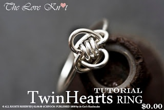 de Cor's Handmade Jewelry: TUTORIAL - STEP BY STEP WIRE JEWELRY - The Love Knot, TwinHearts RING