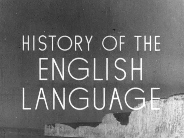 History of The English Language (1943) by British Council Film. Acting as an excellent layman's introduction to the origins of one of the most common languages on the planet, 'History of the English Language' demonstrates how language changes over time, and presents England as being multicultural right down to its roots.