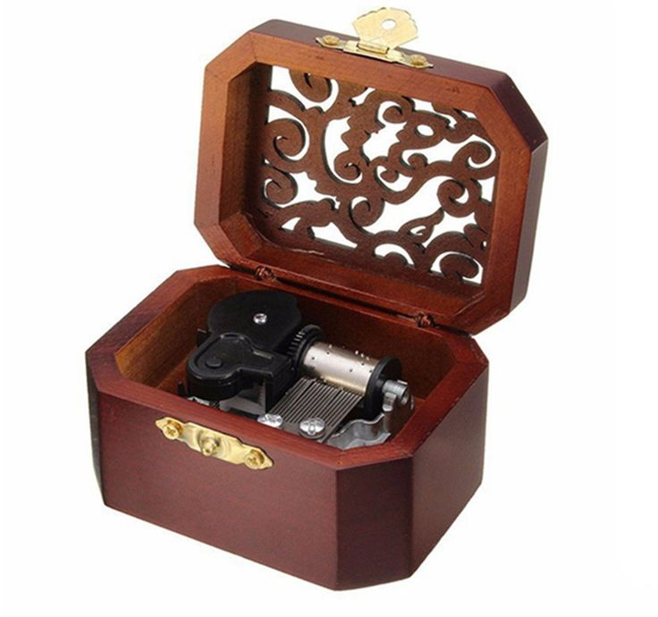 Biscount Vintage Wooden Music Box Wood Musical Toys For Wedding Gift Birthday Gift Valentine's Day Gift-Love Story Rhythm * Find out more details by clicking the image : Musical Boxes and Figurines