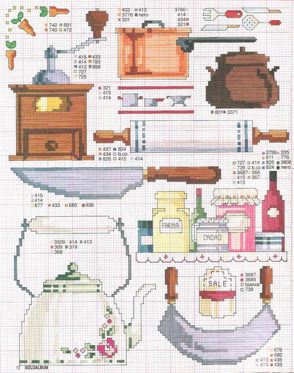 kaneviçe mutfak gereçleri
