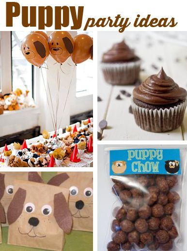 Puppy Party Ideas. How cute, puppy poo cupakes. :)