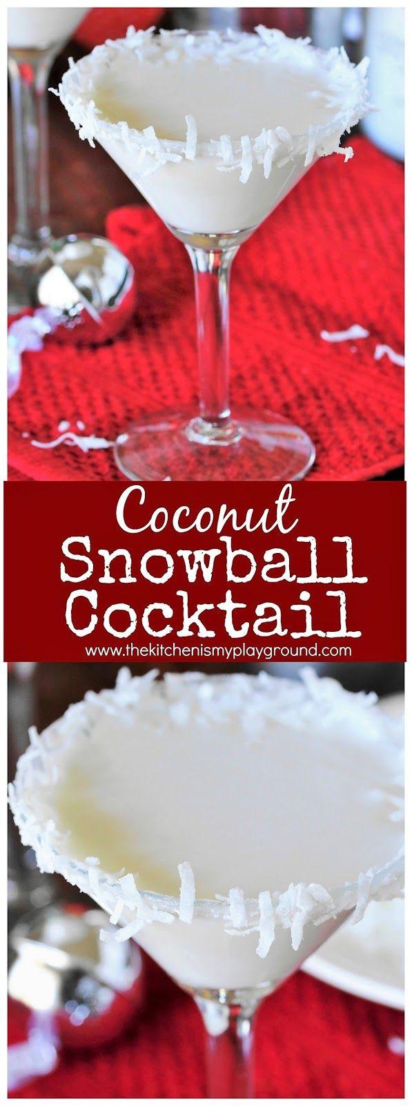 Coconut Snowball Martini image