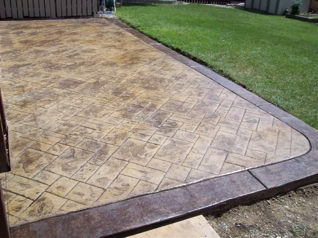 Brown Stamped Concrete Patio : Pin by shannon rez on for outdoors pinterest