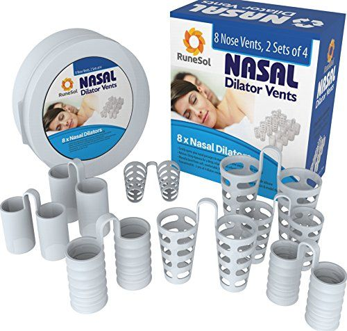 SNORE STOPPER ANTI-SNORING DEVICES 8 x NASAL DILATORS By RuneSol® - STOP SNORING AIDS - Designed To Help Eliminate and Cure Snoring, Nasal Congestion, Deviated Septum Sleep Apnea Aid