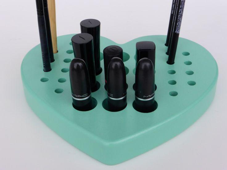 VALENTINE HEART  Mint Make up organizer  by CraftersCalendar, $35.00