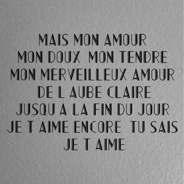 Jacques Brel La chanson des vieux amants - Magnifique ♡