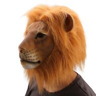 Ylovetoys Adult Halloween Costume Party Cosplay Full Mask Latex Animal Lion