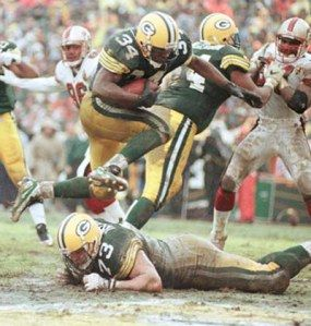 Running back Edgar Bennett, a star player in the Packers' 1996 Super Bowl championship season. While he was a solid running back when the field conditions were fine, he was at his best amid mud and heavy rain.