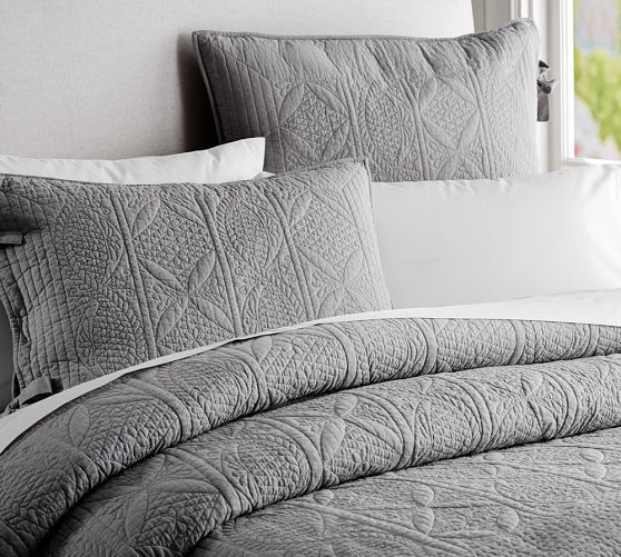 89 best Bedding images on Pinterest | Basement bedrooms, Bath and Bed : dark gray quilt - Adamdwight.com