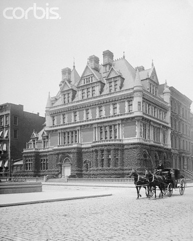 Cornelius Vanderbilt II Residence | Fifth Ave., NYC. This photo dates to a period before the properties iconic wrought iron gates were installed.