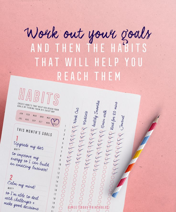 Beginning of the month means I'm setting goals and building habits that help me reach them! Printable trackers make it fun and easy