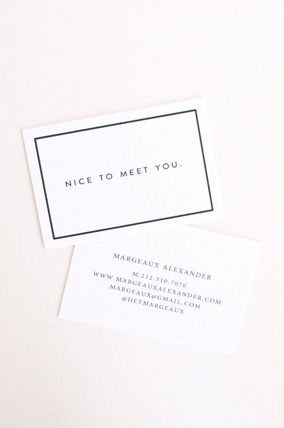 Margeaux: Letterpress Calling Cards - Set of 50