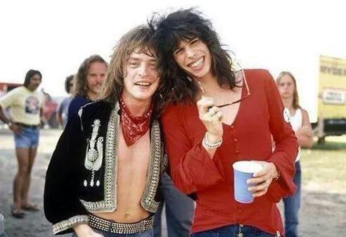 Rick Derringer and Steven Tyler 1971