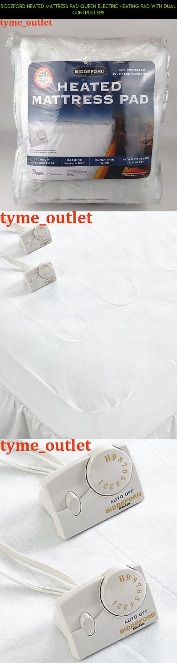 Biddeford Heated Mattress Pad QUEEN Electric Heating Pad with Dual  Controllers #camera #drone #