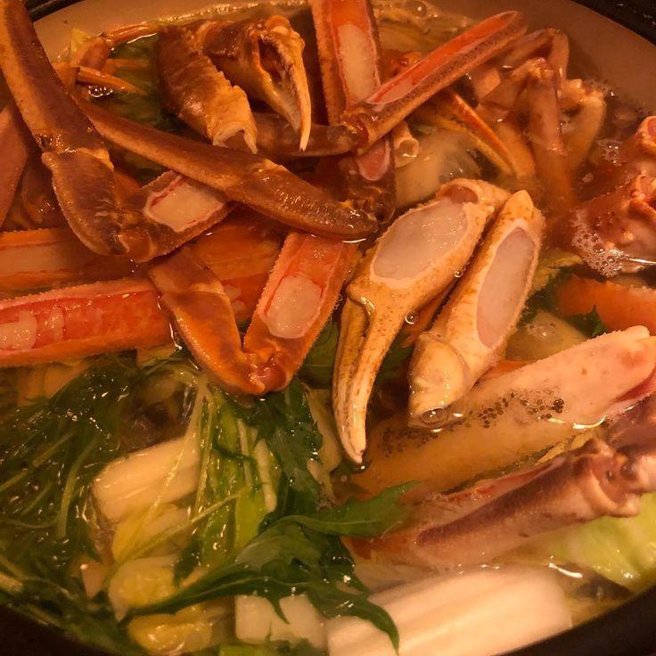 土曜日ウェルカニ(_) #crab #tottori #鳥取 #蟹鳥県 #カニ三昧コース #合宿 #IC塾 #関西から来てくれてありがとう #開眼