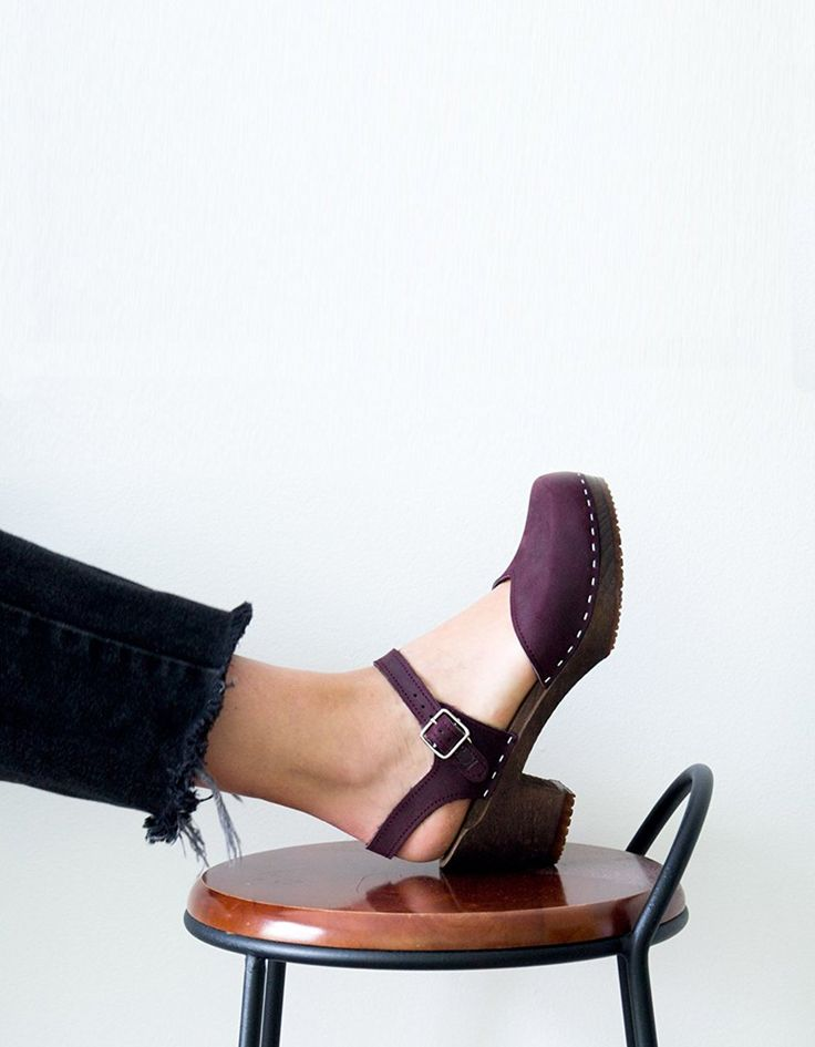 Swedish Wooden High Heel Clog Sandals for Women | Victoria by Sandgrens * Read more at the image link. #shoes