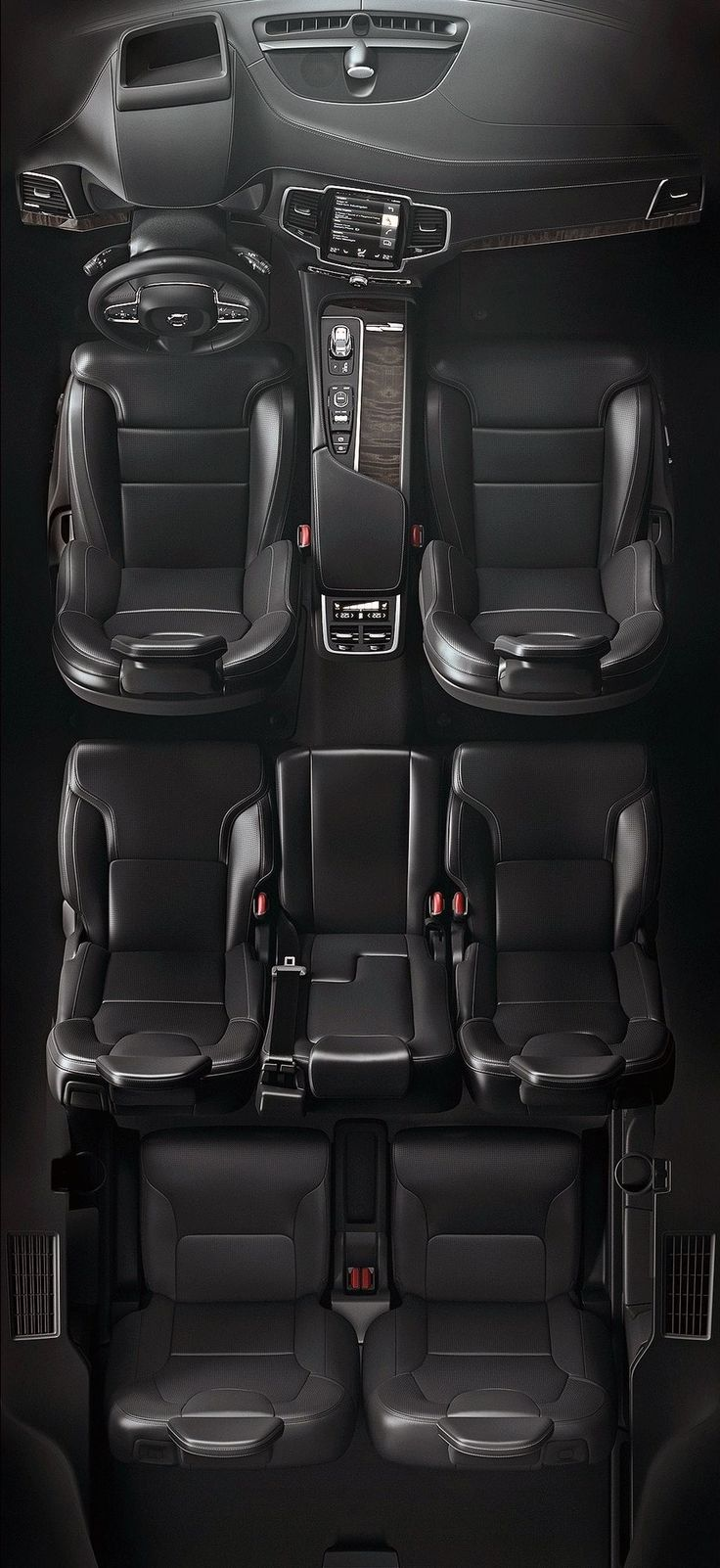 Volvo XC90 interior. Baby three = new vroom vroom to fit everyone