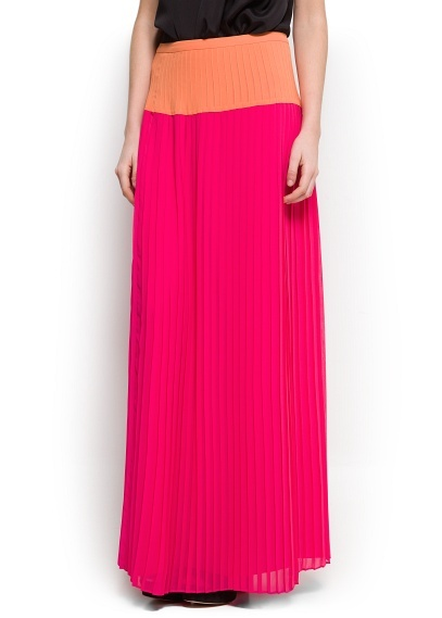 Two-tone long skirt